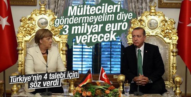 Merkel'den Türkiye'ye AB fonlarından 3 milyar euro sözü