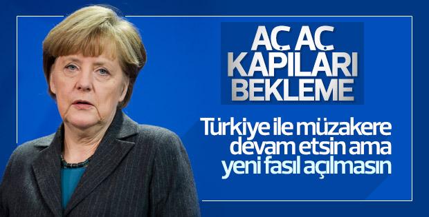 Merkel'den Türkiye'ye karşı yeni formül
