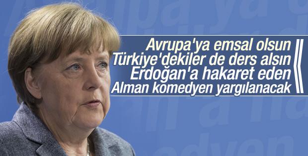 Erdoğan'a hakaret eden Alman komedyene soruşturma