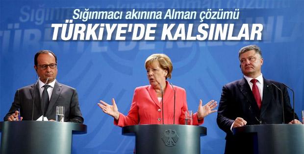 Merkel ve Hollande sığınmacılarla ilgili konuştu