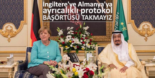 Angela Merkel Suudi Arabistan'da
