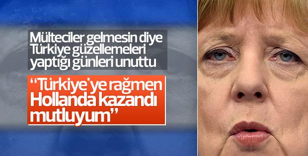 Merkel'den Hollanda seçimlerine ilişkin açıklama