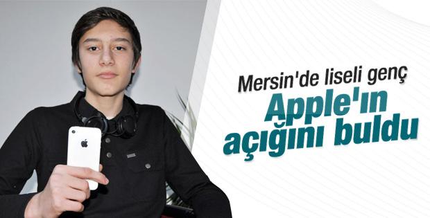 Mersin'de lise öğrencisi Apple'ın açığını buldu