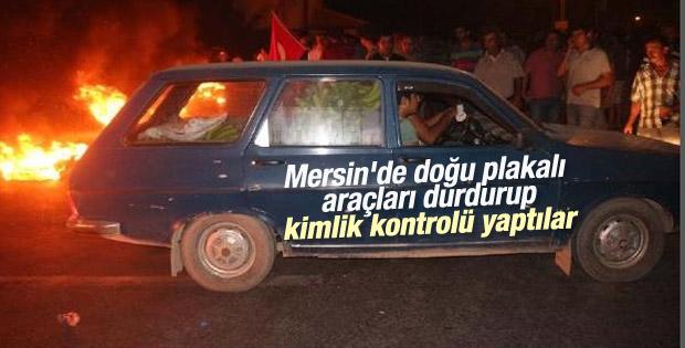 Mersin'de doğu plakalı araçlar durduruldu