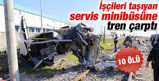 Mersin'de tren kazası: 10 ölü İZLE