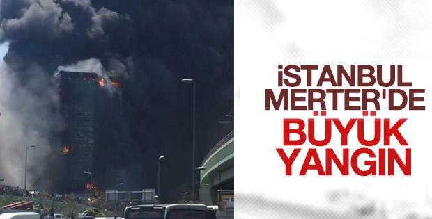 Merter'de iş yeri yangını