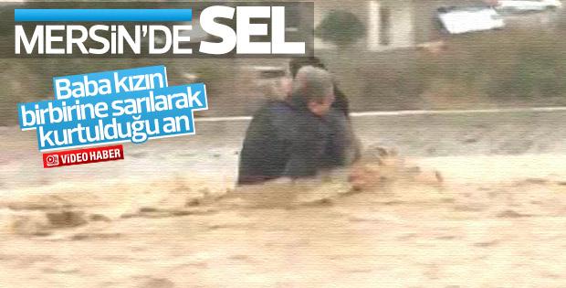 Mersin'de yoğun yağış sele neden oldu