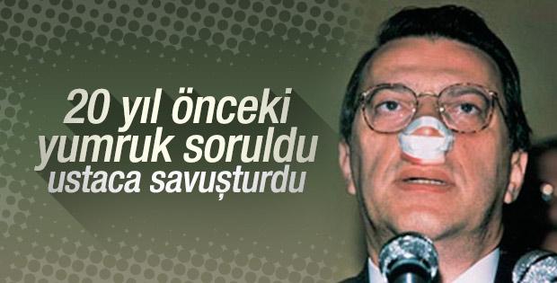 Gazeteciden Mesut Yılmaz'a 'kırık burun' sorusu