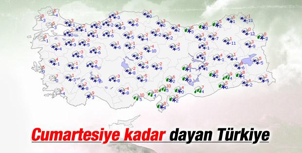 Türkiye'de 5 günlük haritalı hava raporu