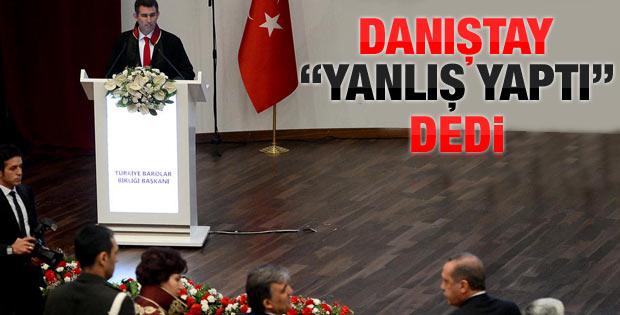 Danıştay'dan Feyzioğlu'na tepki