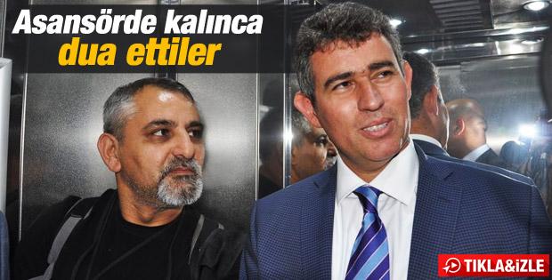 Metin Feyzioğlu asansörde mahsur kaldı İZLE