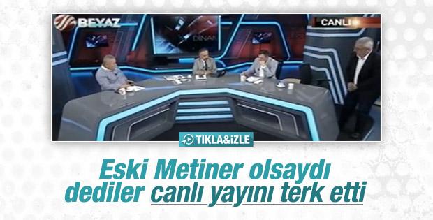 Mehmet Metiner Beyaz TV'de katıldığı programı terk etti
