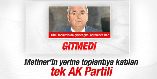 LGBTİ toplantısına AK Parti'den katılan tek isim