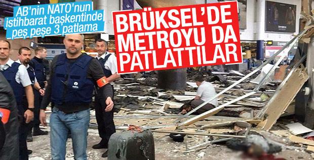 Brüksel metrosunda patlama