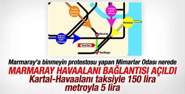 Aksaray Yenikapı metro hattı açıldı İZLE