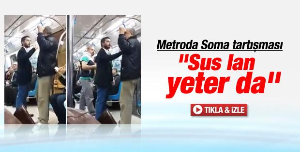 İstanbul metrosunda Soma tartışması İZLE