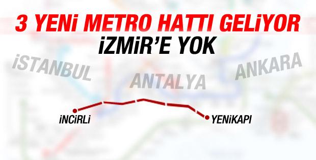 İstanbul Ankara ve Antalya'ya yeni metro hattı
