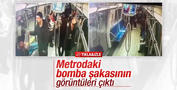 Metroda bomba şakasının görüntüleri ortaya çıktı