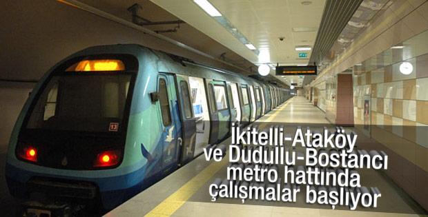 İstanbul'da 2 yeni metro hattında çalışmalar başlıyor