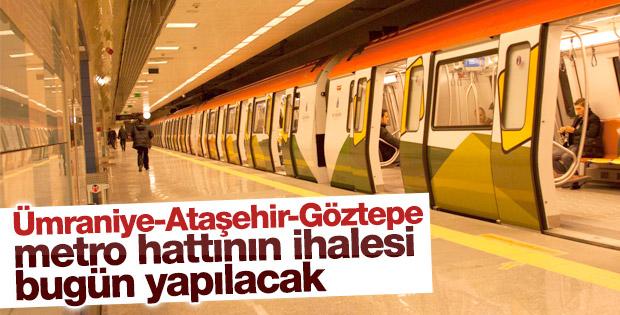 Ümraniye-Ataşehir-Göztepe metro hattı ihaleye çıkıyor