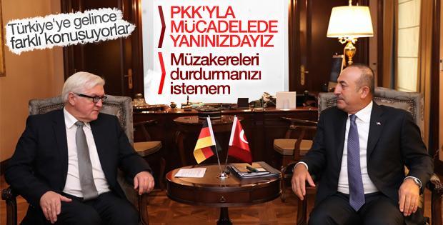 Mevlüt Çavuşoğlu ile Walter Steinmeier görüşmesi