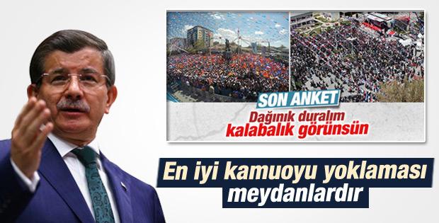 Ahmet Davutoğlu: En iyi kamuoyu yoklaması meydanlardır