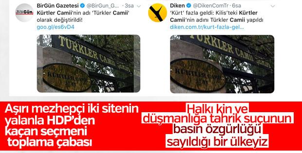 Kürtler Camii'nin adı Türkler Camii oldu yalanı