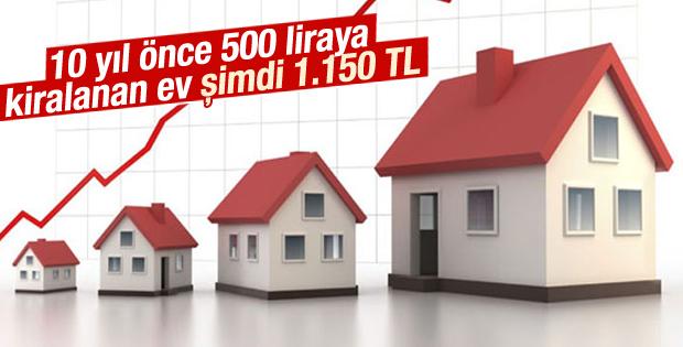 10 yıl önce 500 liraya kiralanan ev şimdi 1.150 TL