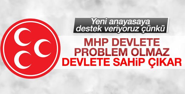 MHP'den yeni anayasa açıklaması