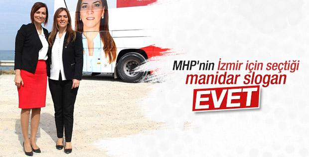 MHP İzmir'de farklı slogan kullanıyor
