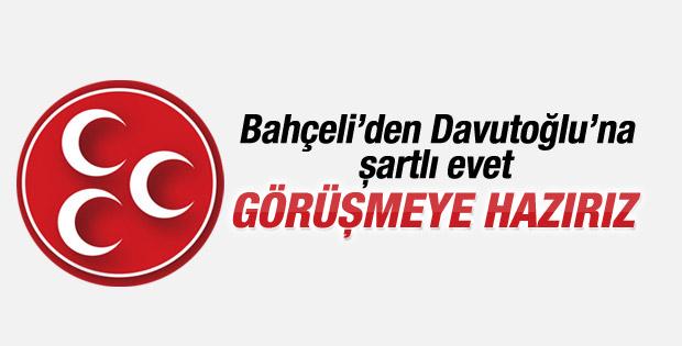 MHP'den açıklama: Davutoğlu ile görüşmeye hazırız