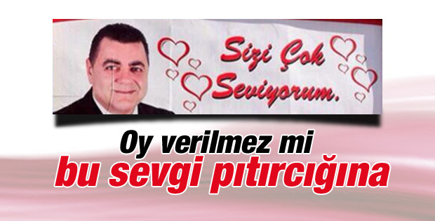 MHP Yenişehir adayından ilginç afiş