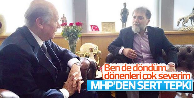 MHP'den Ahmet Hakan'a dönme cevabı
