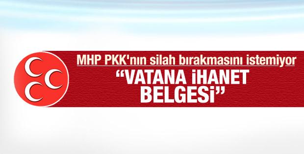 Tarihi gelişmeye MHP'den ilk tepki