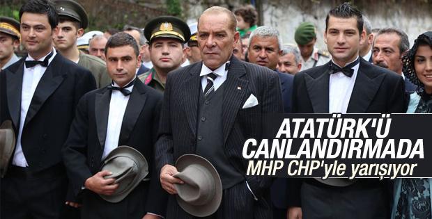 MHP'li belediyeden temsili Atatürk canlandırması