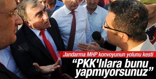 MHP konvoyunda arama krizi