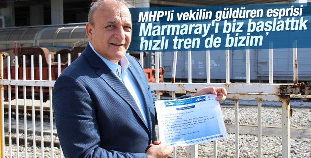 Oktay Vural Marmaray ve hızlı tren projesi MHP'nin dedi