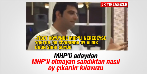 MHP'li adaydan skandal oy çıkarma kılavuzu