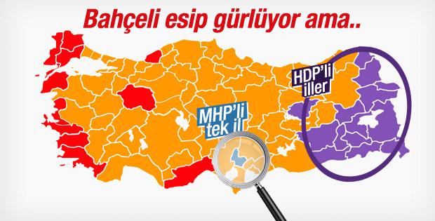 MHP'nin seçimde aldığı tek il Osmaniye