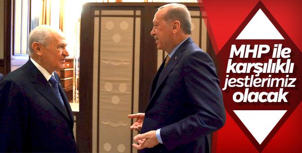 Başkan Erdoğan: MHP ile karşılıklı jestler olabilir