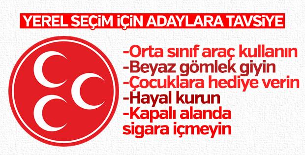 MHP'den yerelde adaylara tavsiye kitapçığı