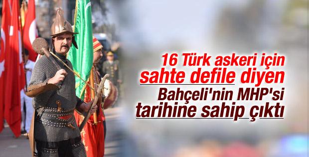 MHP'den Osmaniye'de 16 Türk askeriyle karşılama