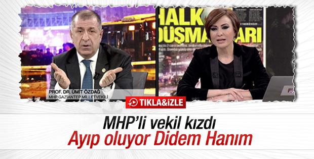 Didem Arslan'ın sorusu MHP'li vekili kızdırdı