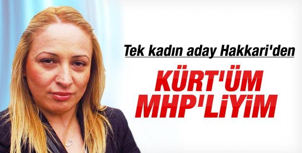 MHP'nin Hakkari adayı Belkıs Öztunç: Kürt'üm MHP'liyim