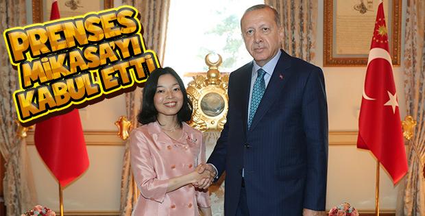 Erdoğan, Japonya Prensesi'ni kabul etti