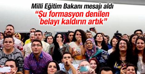 Erdoğan: Formasyon denilen şu belayı kaldırın