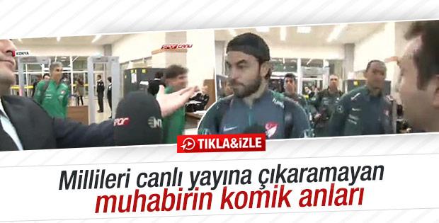 Milliler NTV Spor muhabirini takmadı