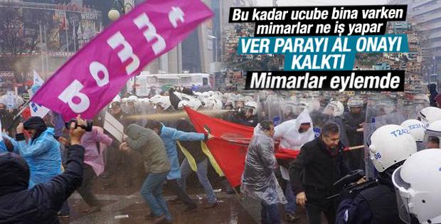 Mimarların Ankara'daki eylemine polis müdahalesi