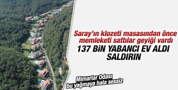 Türkiye'den 137 bin yabancı ev aldı