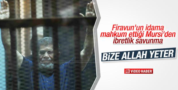 İdam cezasına çarptırılan Mursi'nin son savunması